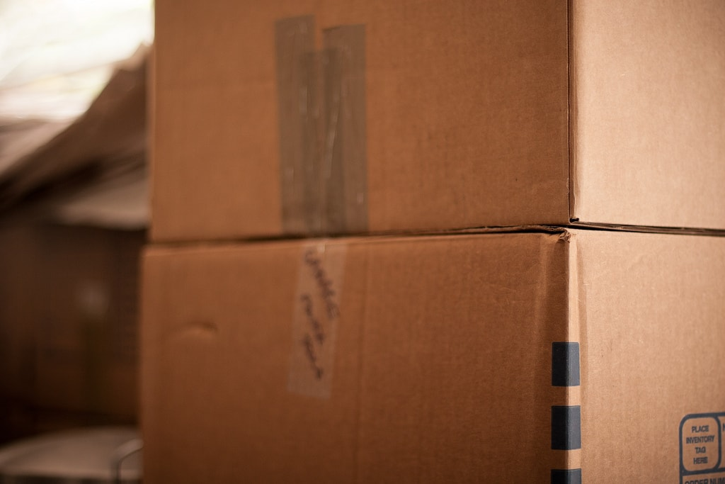 Boxes for moving into real estate rentals in Brisbane